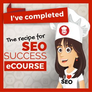 Image of Search Engine Optimization certification from Recipe for SEO Success eCourse