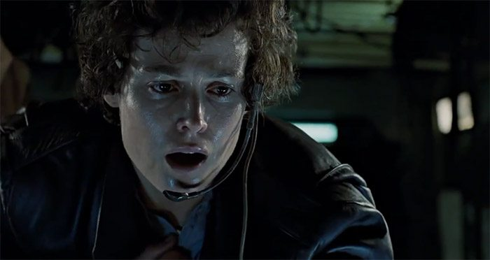 Image of Ripley having a panic attack