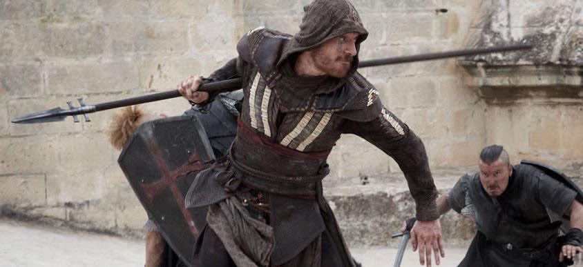 Image of Michael Fassbender fighting in Assassin's Creed