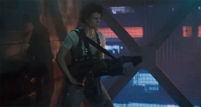 Image of Ripley with gun