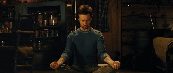 Image of Edward Norton meditating
