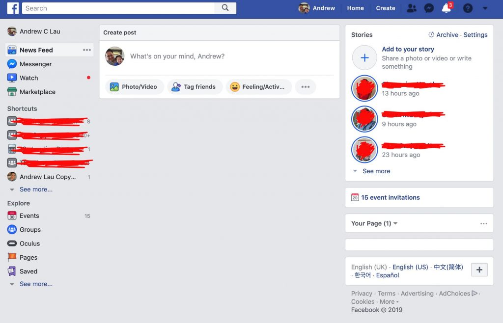 Screen capture of social media feed